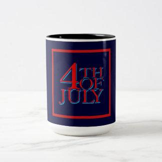 4th of July - Two-Tone Coffee Mug