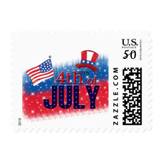 4th of July typography Postage