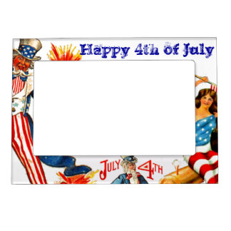 4th of July Uncle Sam Acryllic Photo Frame Magnet