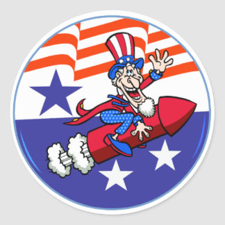 4th Of July Uncle Sam Sticker