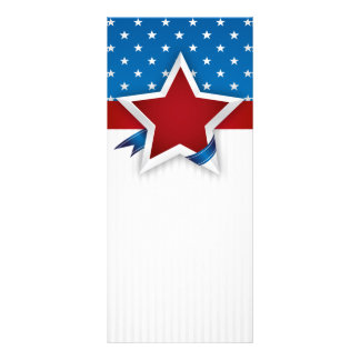 4th Of July USA Banner Background Rackcard Rack Card