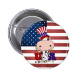4th Of July USA Cow Pins