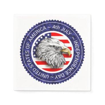 USA Themed 4th of July - USA/EAGLE Napkin