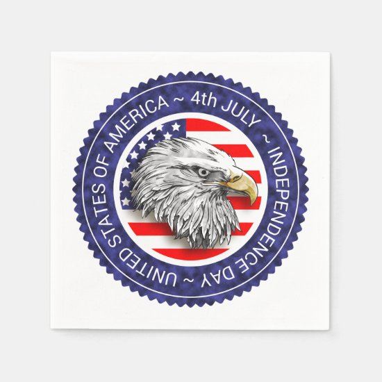 4th of July - USA/EAGLE Napkin