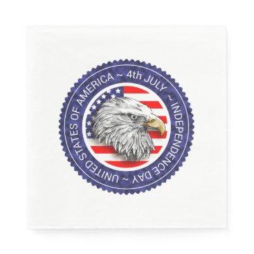 USA Themed 4th of July - USA/EAGLE Paper Napkin