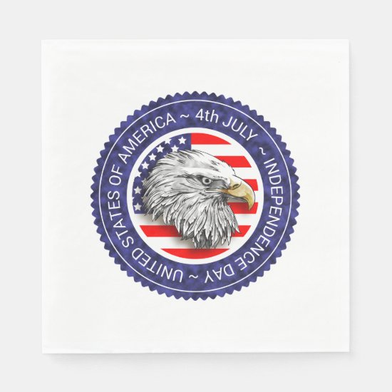4th of July - USA/EAGLE Paper Napkin