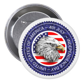 4th of July - USA/EAGLE Pinback Button