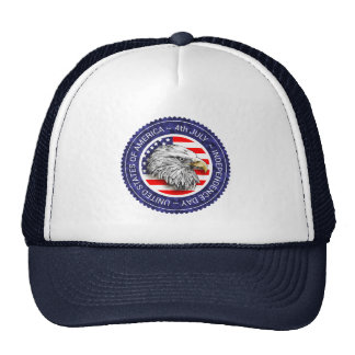 4th of July - USA/EAGLE Trucker Hat