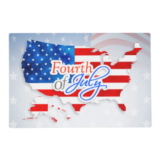 4th of July - USA Flag/Map Placemat