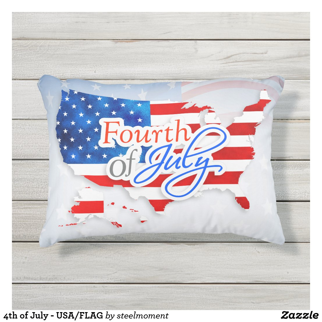 4th of July - USA/FLAG Outdoor Pillow