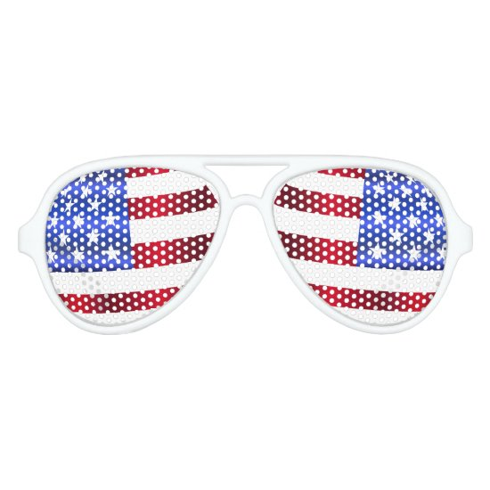 4th of July, USA Flag, Stars & Stripes Sunglasses