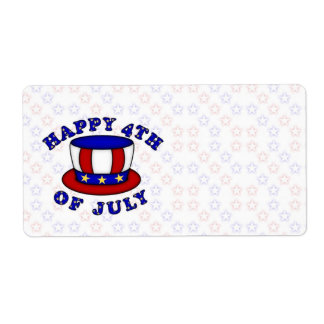 4th of July USA Independence Day Label Shipping Label