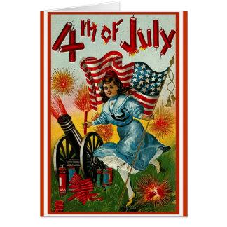 4th of July - Vintage Art Card