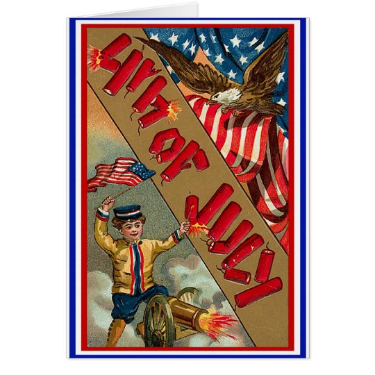 4th of July - Vintage Art Card