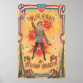 4th of July - Vintage Art Poster ( 1908 )
