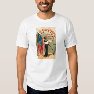 4th of July - Vintage Art Tee Shirt