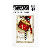 4th of July Vintage Design Postage Stamps