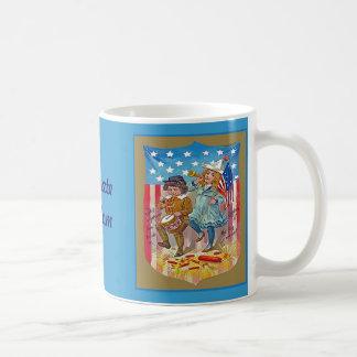 4th of july vintage kids coffee mug