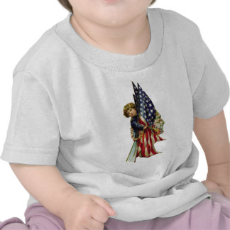 4th of July Vintage Liberty Girl and Flags Shirts