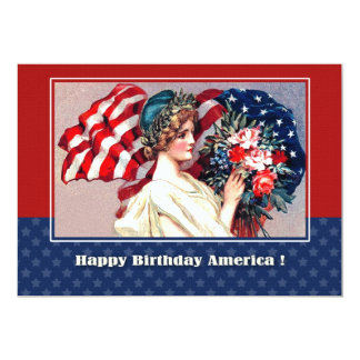 4th of July Vintage Patriotic Design Custom Cards