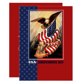 4th of July Vintage Patriotic Design Flat Cards