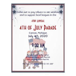 4th of July Vintage Patriotic Kids Flyer