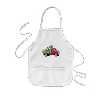 4th of July Vintage Truck Apron