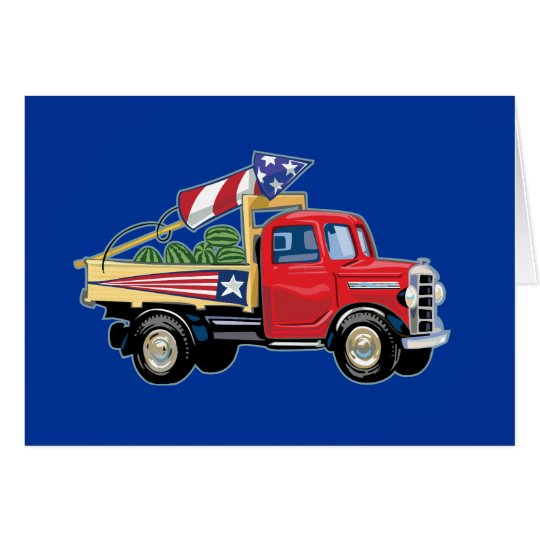4th of July Vintage Truck Card