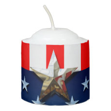 4th of July Votive Candle