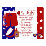 4th of July Water Party 4.25x5.5 Paper Invitation Card