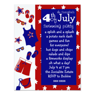 4th of July Water Party Invitation
