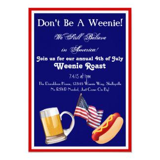 4th of July Weenie Roast Invitations