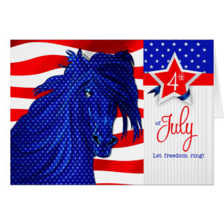4th of July - Western Patriotic Horse Card