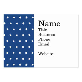 4th Of July White Stars on Navy Background Pattern Large Business Cards (Pack Of 100)