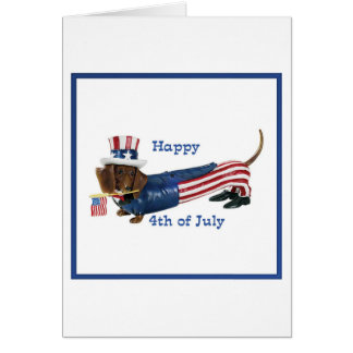 4th of July Wiener Dog Card
