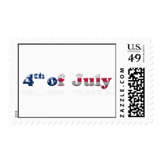 4th of July Writing Postage Stamps