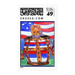 4th of July Yorkie Postage