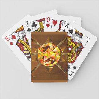 4th Pattern; Sunburst Design Playing Cards