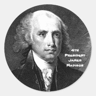 4th Pres. James Madison Classic Round Sticker