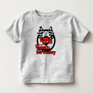 4th Race Car Birthday Toddler T-shirt