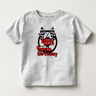 4th Race Car Birthday Toddler T-shirt