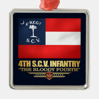 4th South Carolina Infantry Metal Ornament