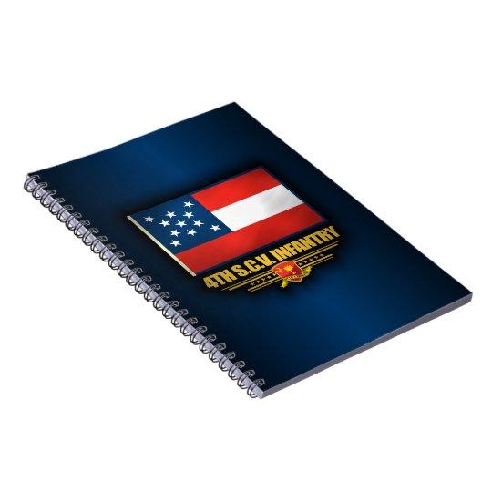 4th South Carolina Volunteer Infantry Spiral Notebook