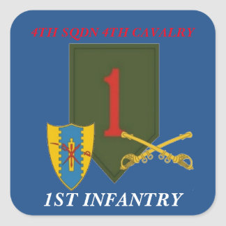 4TH SQUADRON 4TH CAVALRY 1ST INFANTRY STICKERS