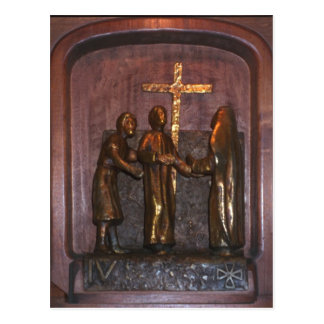 4th Station of the Cross Postcard