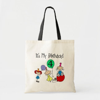4th Stick Kids Party Birthday Tshirts and Gifts Tote Bag
