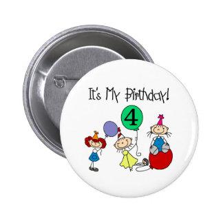 4th Stick Kids Party Pinback Button