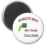 4th Teacher Refrigerator Magnets