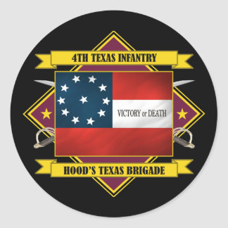 4th Texas Infantry Classic Round Sticker