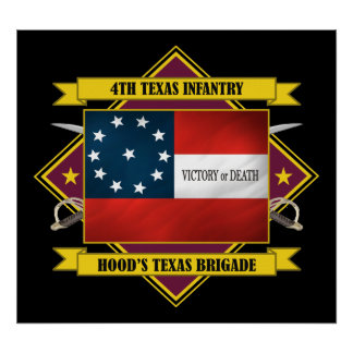 4th Texas Infantry (F3) Poster